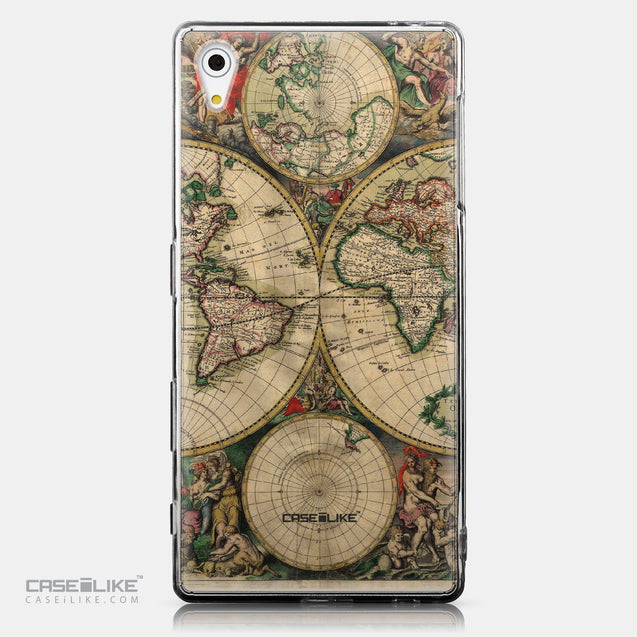 CASEiLIKE Sony Xperia Z5 back cover World Map Vintage 4607