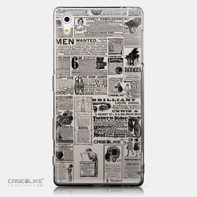 CASEiLIKE Sony Xperia Z5 back cover Vintage Newspaper Advertising 4818