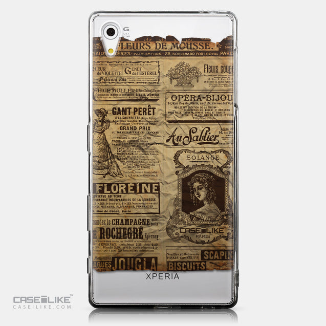 CASEiLIKE Sony Xperia Z5 back cover Vintage Newspaper Advertising 4819