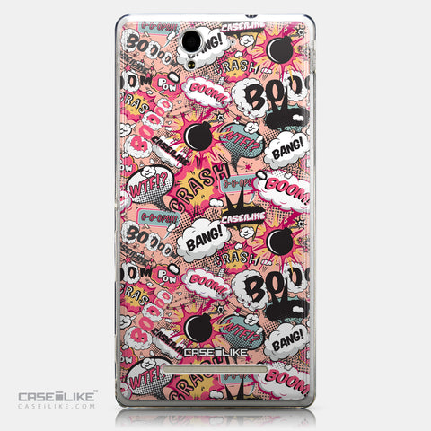 CASEiLIKE Sony Xperia C3 back cover Comic Captions Pink 2912