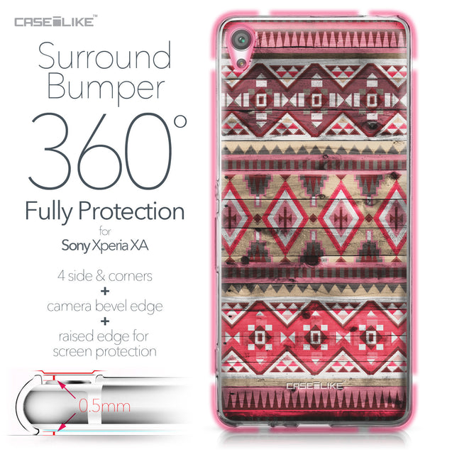 Sony Xperia XA case Indian Tribal Theme Pattern 2057 Bumper Case Protection | CASEiLIKE.com