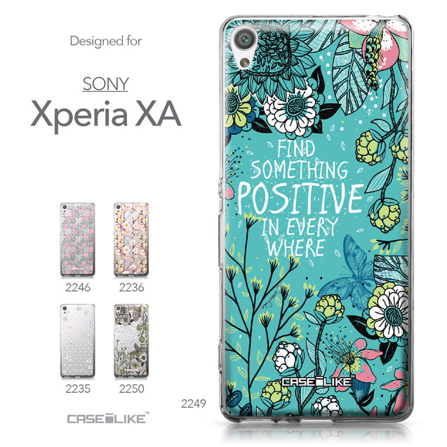 Sony Xperia XA case Blooming Flowers Turquoise 2249 Collection | CASEiLIKE.com