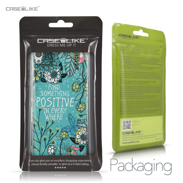 Sony Xperia XA case Blooming Flowers Turquoise 2249 Retail Packaging | CASEiLIKE.com