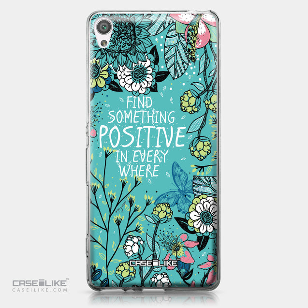 Sony Xperia XA case Blooming Flowers Turquoise 2249 | CASEiLIKE.com