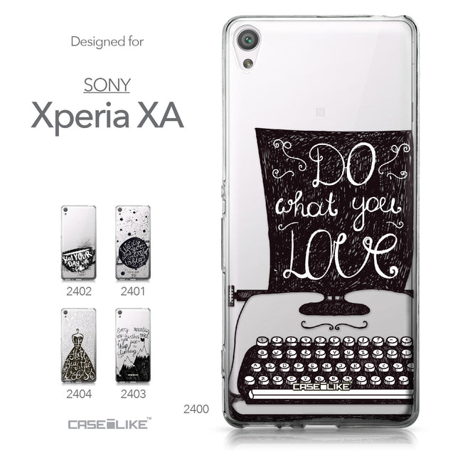 Sony Xperia XA case Quote 2400 Collection | CASEiLIKE.com