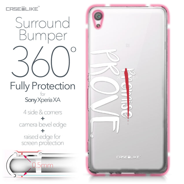 Sony Xperia XA case Quote 2409 Bumper Case Protection | CASEiLIKE.com
