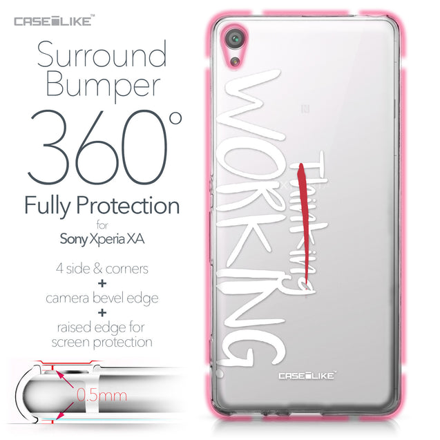 Sony Xperia XA case Quote 2411 Bumper Case Protection | CASEiLIKE.com
