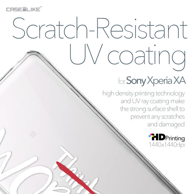 Sony Xperia XA case Quote 2411 with UV-Coating Scratch-Resistant Case | CASEiLIKE.com