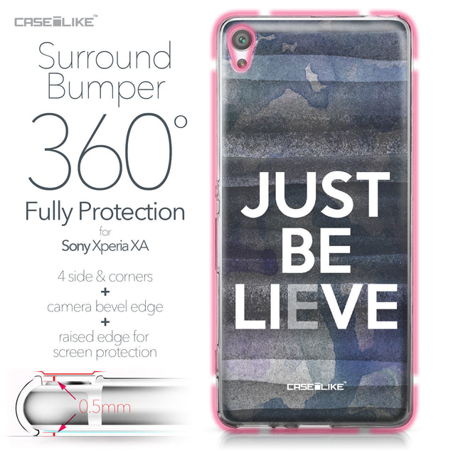 Sony Xperia XA case Quote 2430 Bumper Case Protection | CASEiLIKE.com