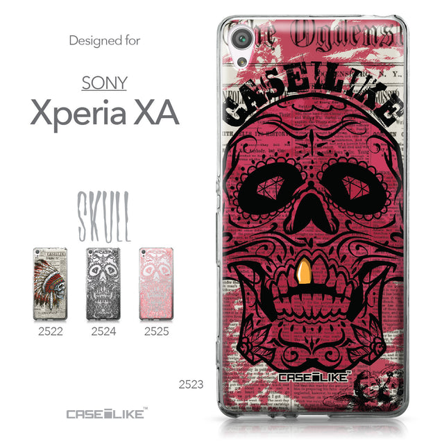 Sony Xperia XA case Art of Skull 2523 Collection | CASEiLIKE.com