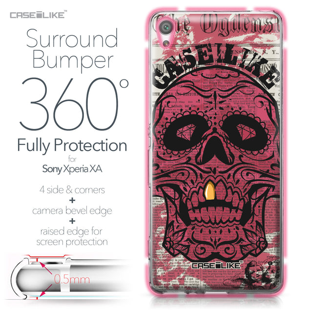 Sony Xperia XA case Art of Skull 2523 Bumper Case Protection | CASEiLIKE.com