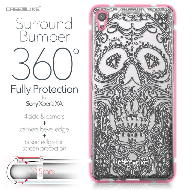 Sony Xperia XA case Art of Skull 2524 Bumper Case Protection | CASEiLIKE.com