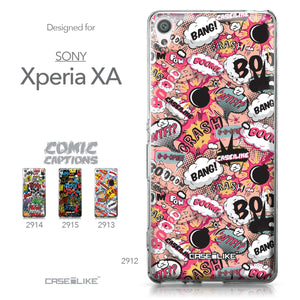 Sony Xperia XA case Comic Captions Pink 2912 Collection | CASEiLIKE.com