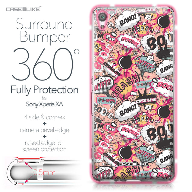 Sony Xperia XA case Comic Captions Pink 2912 Bumper Case Protection | CASEiLIKE.com