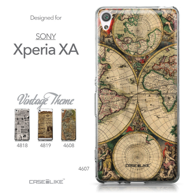 Sony Xperia XA case World Map Vintage 4607 Collection | CASEiLIKE.com