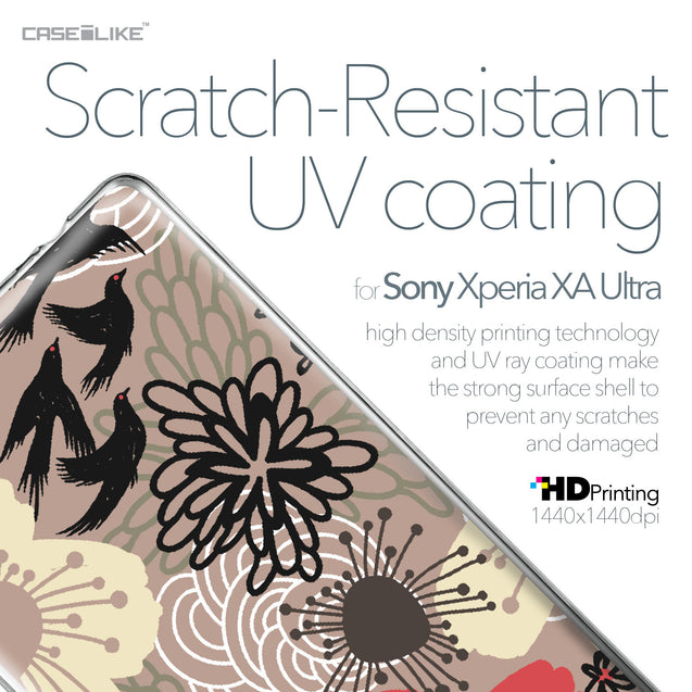 Sony Xperia XA Ultra case Japanese Floral 2254 with UV-Coating Scratch-Resistant Case | CASEiLIKE.com