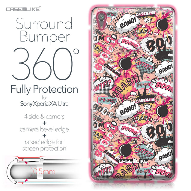 Sony Xperia XA Ultra case Comic Captions Pink 2912 Bumper Case Protection | CASEiLIKE.com