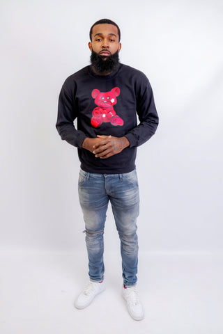 Red Teddy Sweatshirt