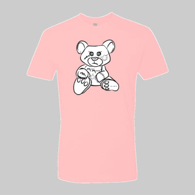 Pink Tee with White Bear