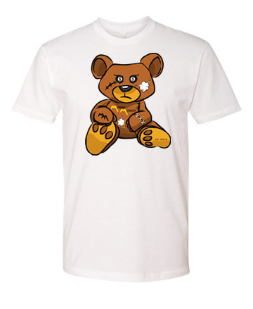 White MM Teddy Logo Tee