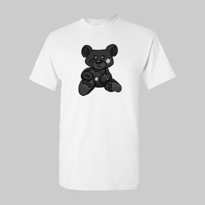 White MM Tee with Black Bear