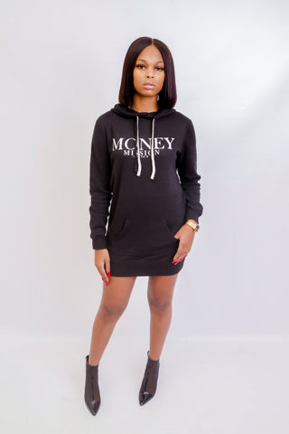 MM Hoodie Dress (Black)