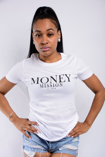 White Money Mission Logo Tee