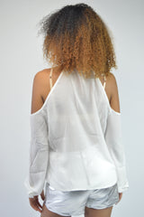 Ivory Cut-Out Top