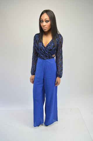 Blue/Black Jumpsuit