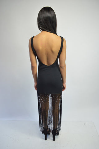 Backless Fringe Dress (More Colors)