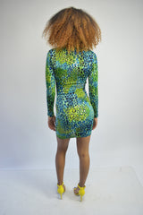 Neon Leopard Bodycon Dress