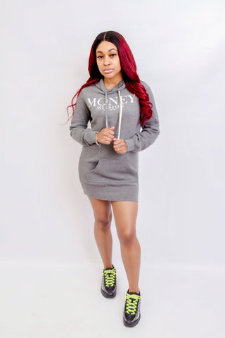 MM Hoodie Dress (Gray)