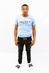 Light Blue Signature Logo Tee