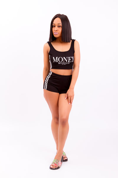 Money Mission Two Piece (Black)