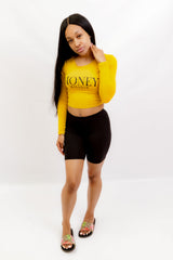 Mustard MM Crop Top