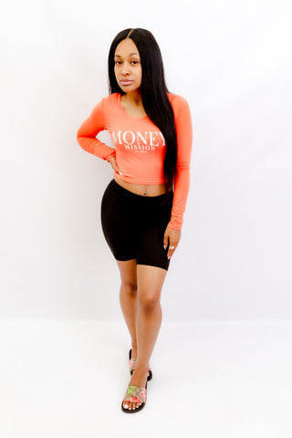 Coral MM Crop Top