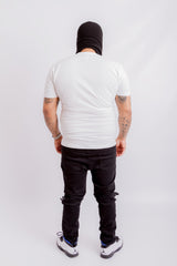 White MM Logo Tee