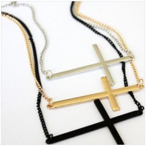 Trendy Cross Pendant Necklace