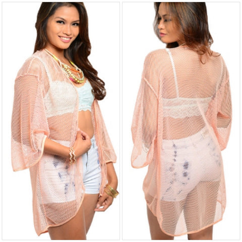 Peach Cover-Up Top