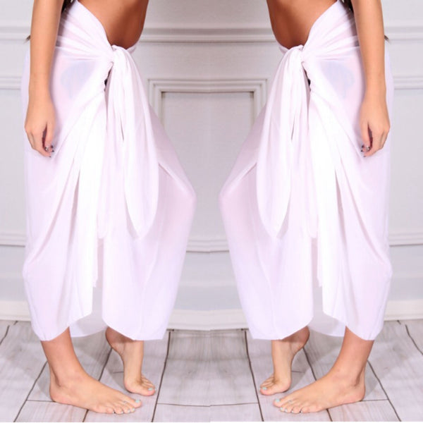 White Sarong Beach Cover-Up