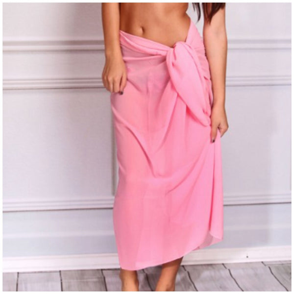 Pink Beach Sarong Cover-Up