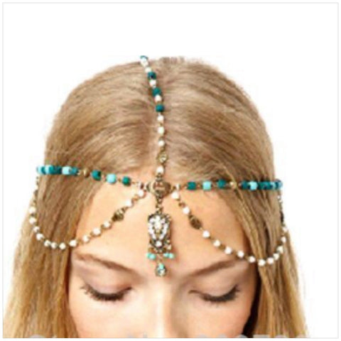Crystal/Pearl Tassel Hair Band
