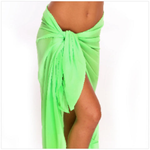 Lime Sarong Cover-Up