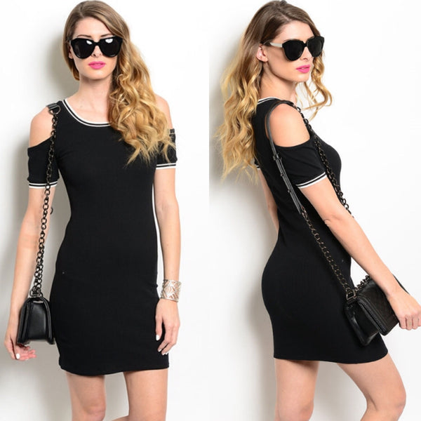 Cold Shoulder Day Dress