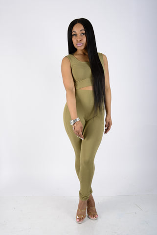 Olive Martini Jumpsuit
