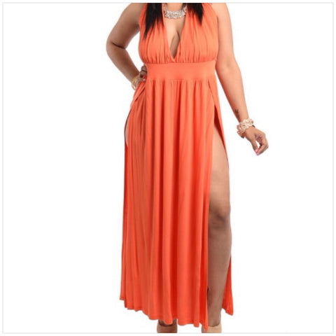 Orange Halter Dress