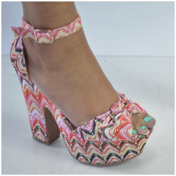 Multicolor Printed Sandals