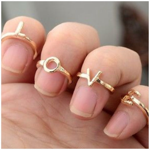 Love 4pc ring Set