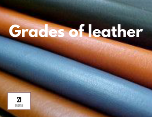 Leather overload – The different grades of leather