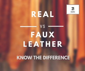Real leather vs. Faux leather: know the difference.